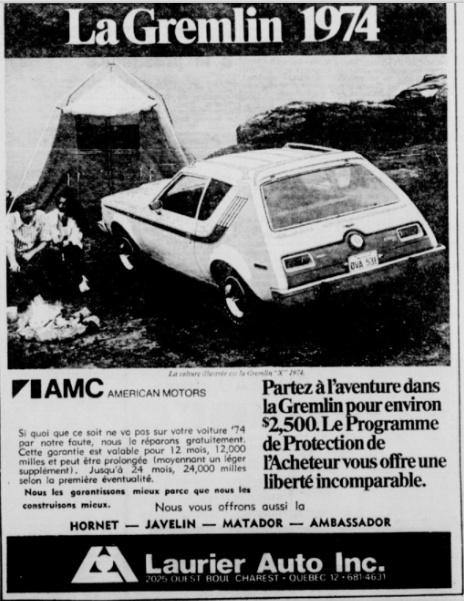 Vieilles publicités AMC au Québec - Page 2 1974_g10