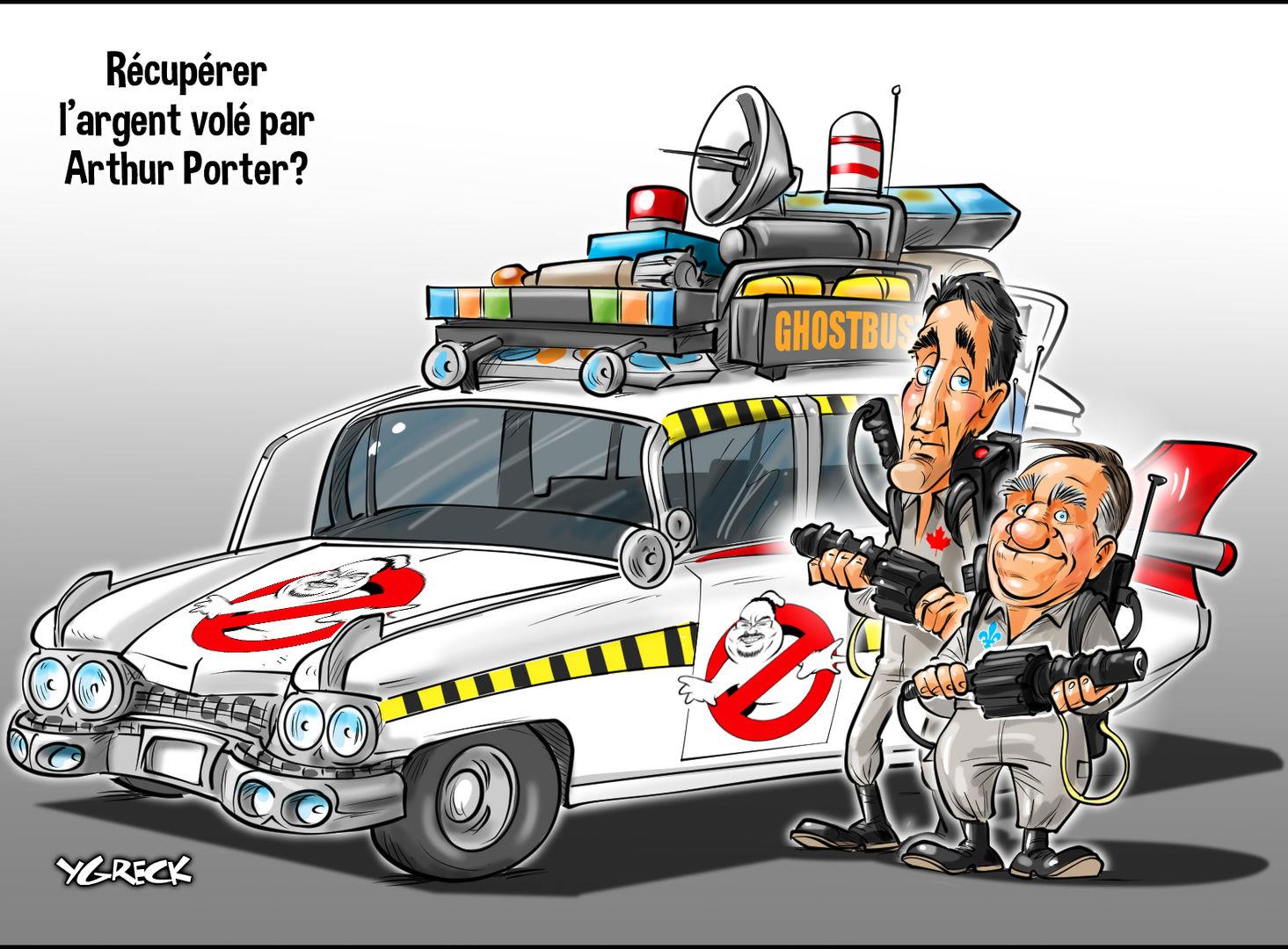 Caricature dans le journal de Montréal (23-1-2019) Ghostb10