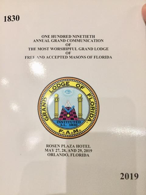 190th Grand Annual Communication* GL de la Florida 3cc82810