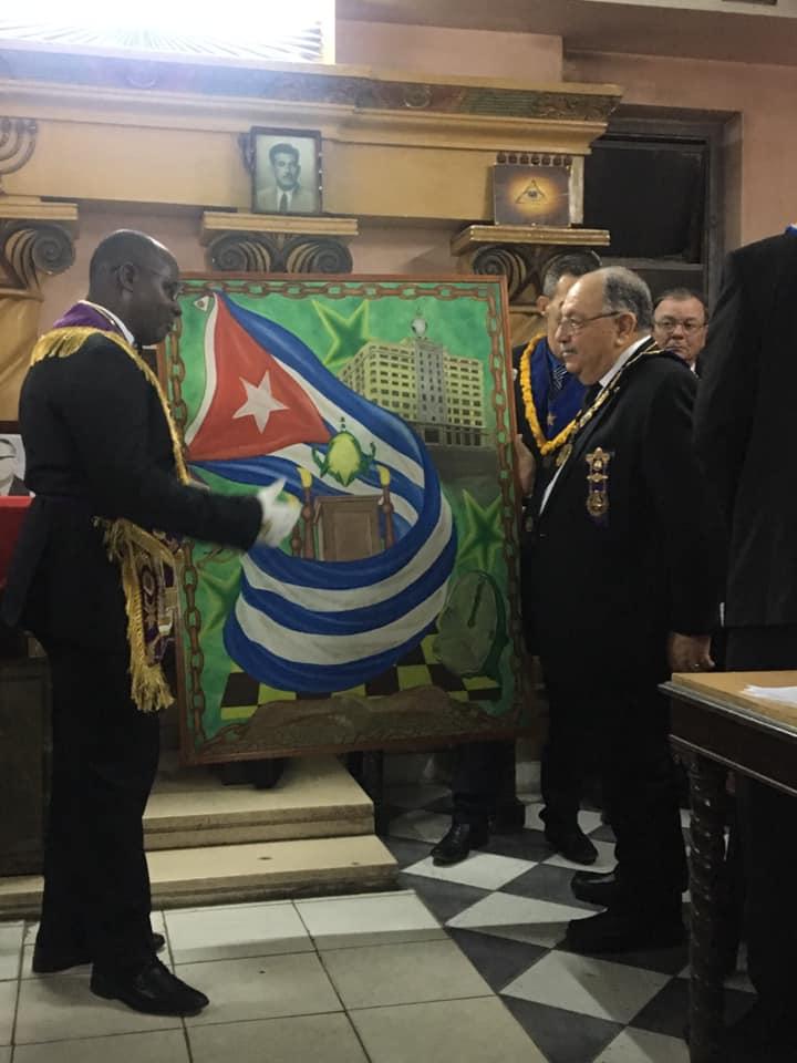 Visita del MRGM de la Florida John E. Karroum a la Gran Logia de Cuba 87685110