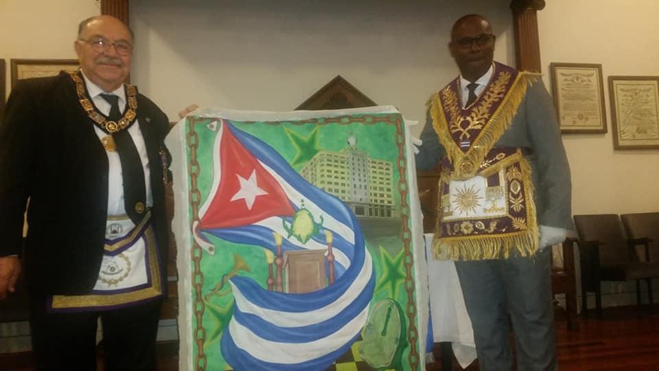 Visita del MRGM de la GL de Cuba Ernesto Zamora Fernandez a la Logia Luz de America No. 255 938f8b10