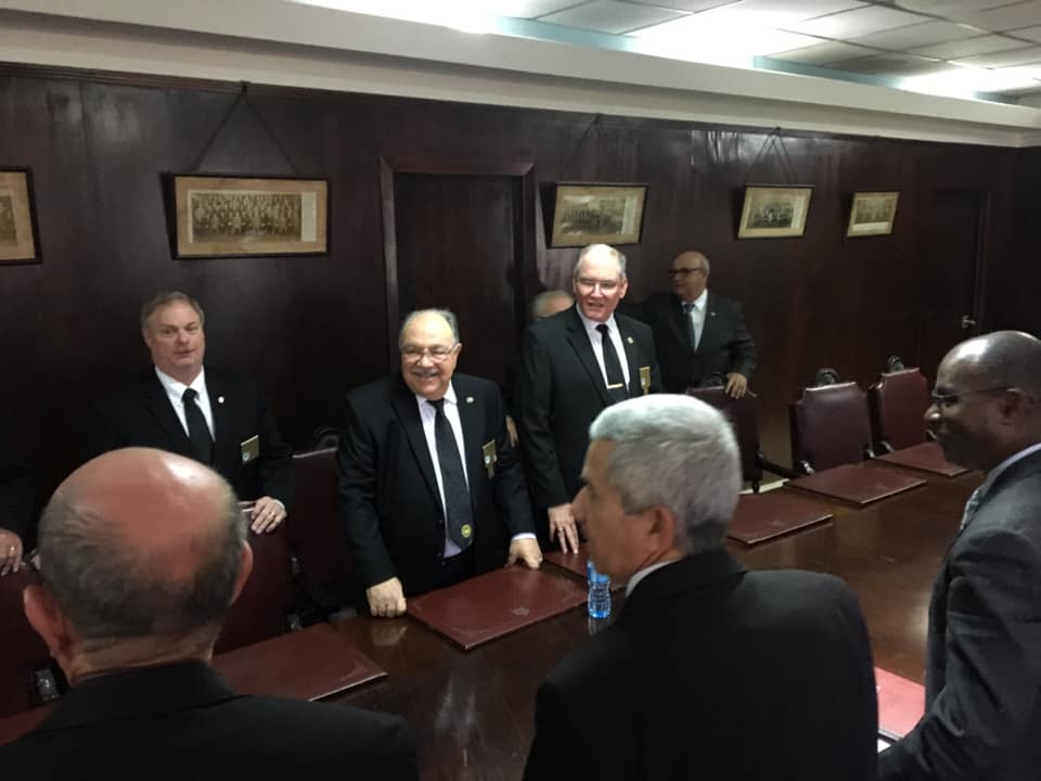 Visita del MRGM de la Florida John E. Karroum a la Gran Logia de Cuba F6289c10