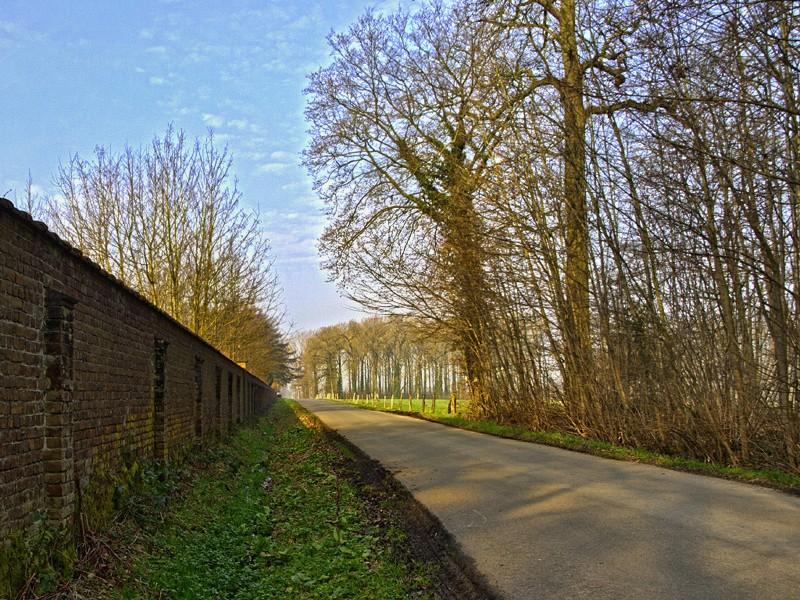 Chemin le long du chateau du Bois de Lessines 11030210