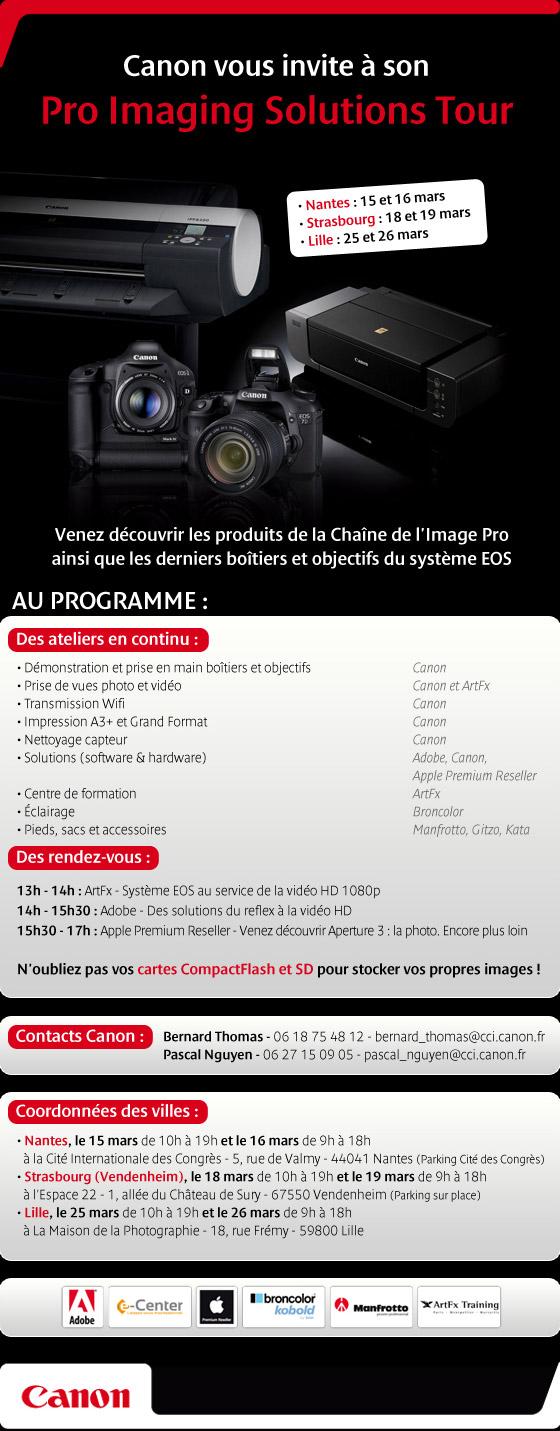 3ème édition du Canon Pro Imaging Solutions Tour Canon-10