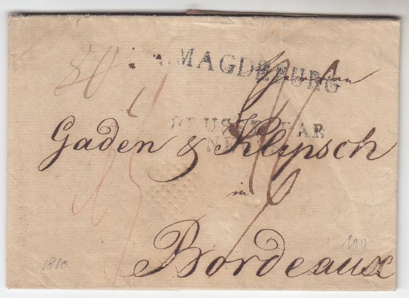von / nach / durch Magdeburg bis 1870 18100211