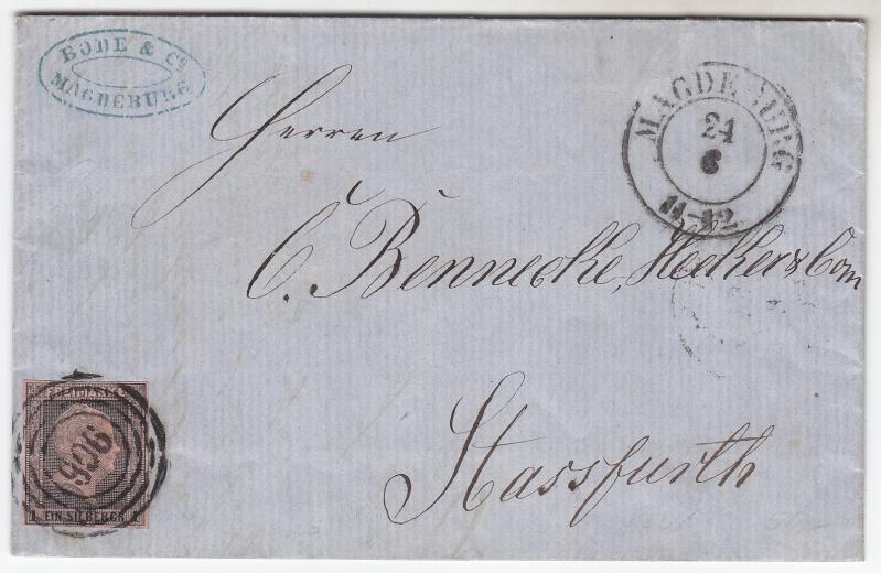 von / nach / durch Magdeburg bis 1870 18570610