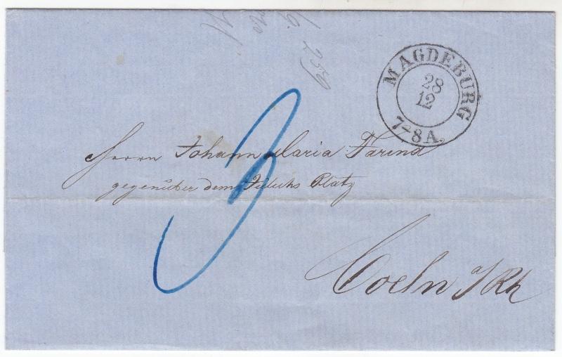 von / nach / durch Magdeburg bis 1870 18581210