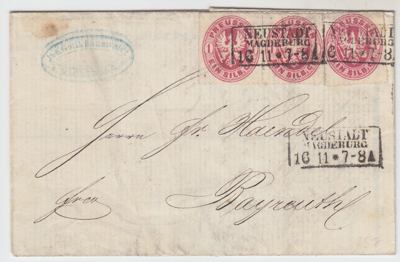 von / nach / durch Magdeburg bis 1870 18631110