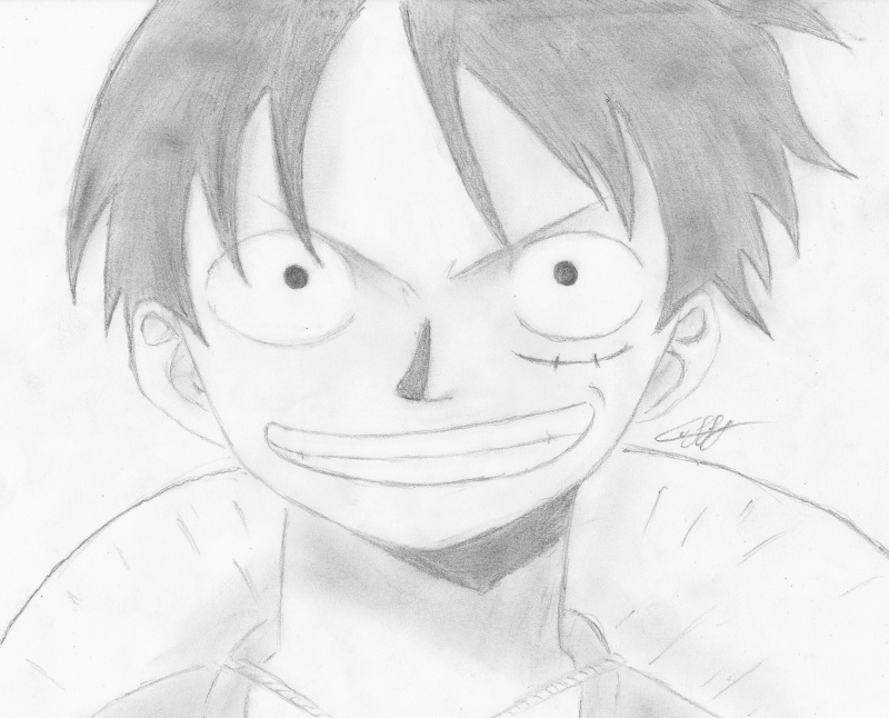 Tuto Dessin Dessiner Luffy By Law