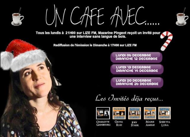 """""""Un café avec Elodie Frégé"""" sur Lize FM (06 décembre 2010 à 21h) Lize210"""