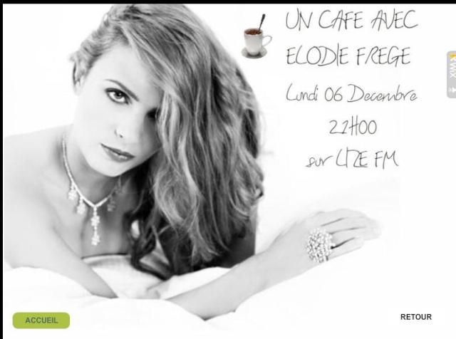 """""""Un café avec Elodie Frégé"""" sur Lize FM (06 décembre 2010 à 21h) Lizfm10"""