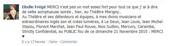 Remerciements d'Elodie pour le concert au Théâtre Marigny Marign10