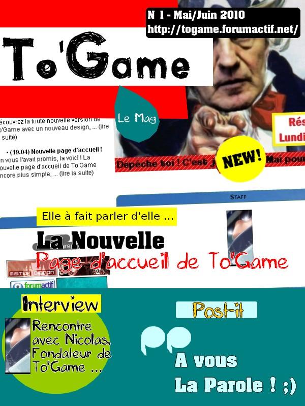 Dès demain soir ... To'Game Le Mag ! :) No_110