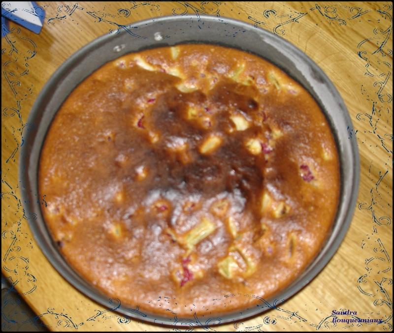 Gâteau à la framboise et rhubarbe Dsc04617