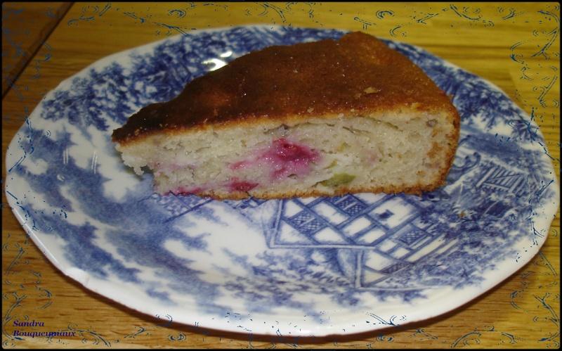 Gâteau à la framboise et rhubarbe Dsc04618