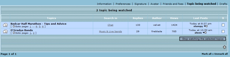 Your Profile - Topics being watched Profil21