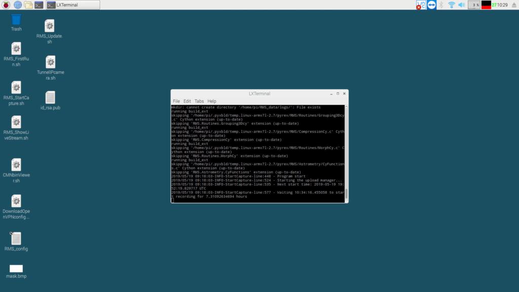 RMS (Raspberry Meteor System) par l'équipe Croatienne du CMN (Croation Meteor Network) Screen13