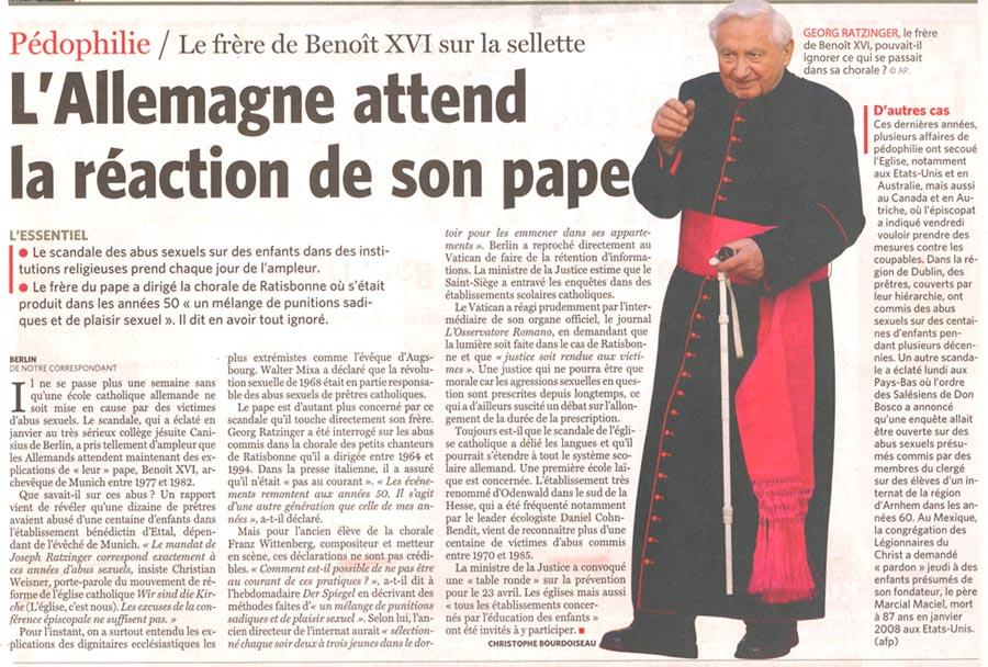 Dieu privilégie les innocents... Ratzinger en abuse ? 2010_010