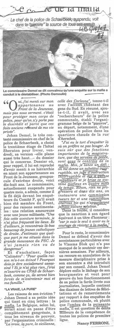 Un commissaire en chef de Schaerbeek et Cosa Nostra Articl22