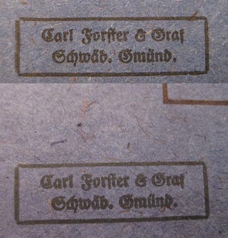 2 sachets pour EK2 Carl Forster & Graf Cf0310