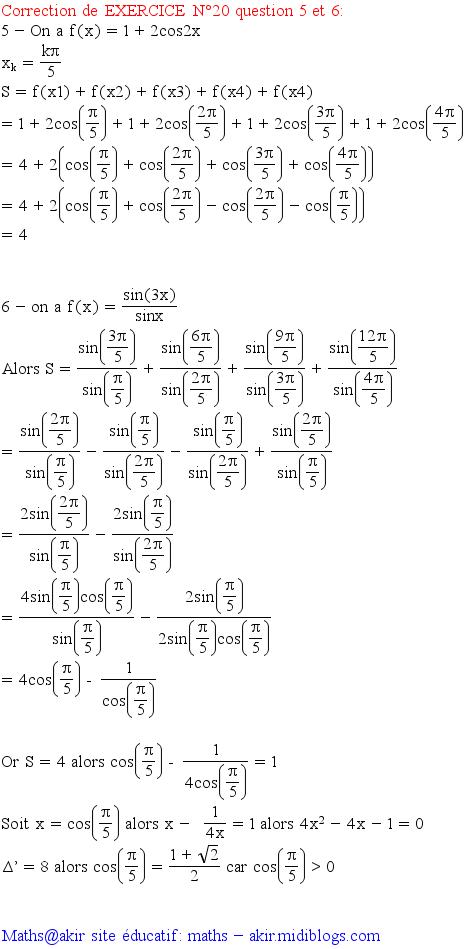 Suite trigonométrique 2806510