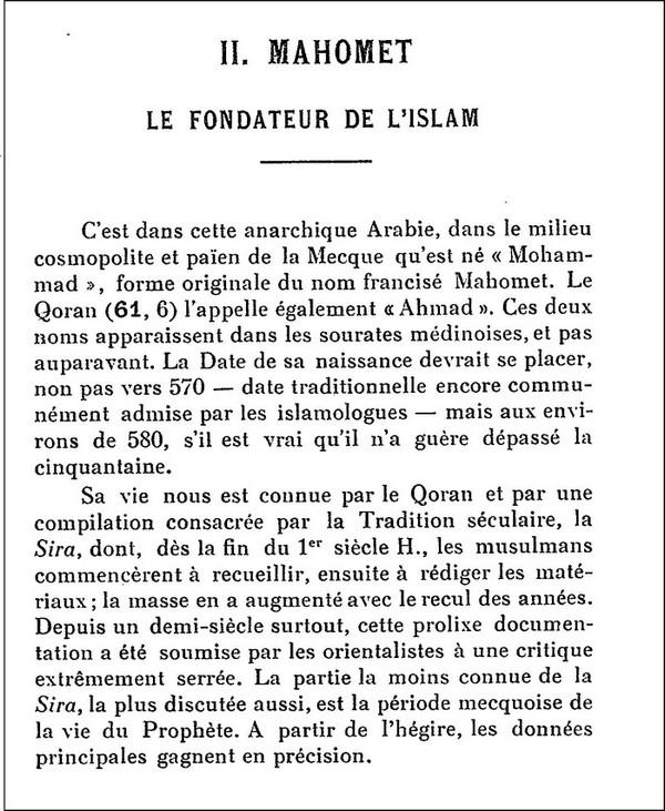 L'Islam par H. LAMMENS (extraits) 111