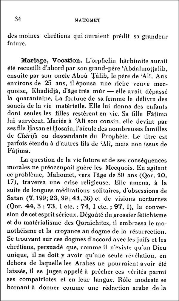 L'Islam par H. LAMMENS (extraits) 310