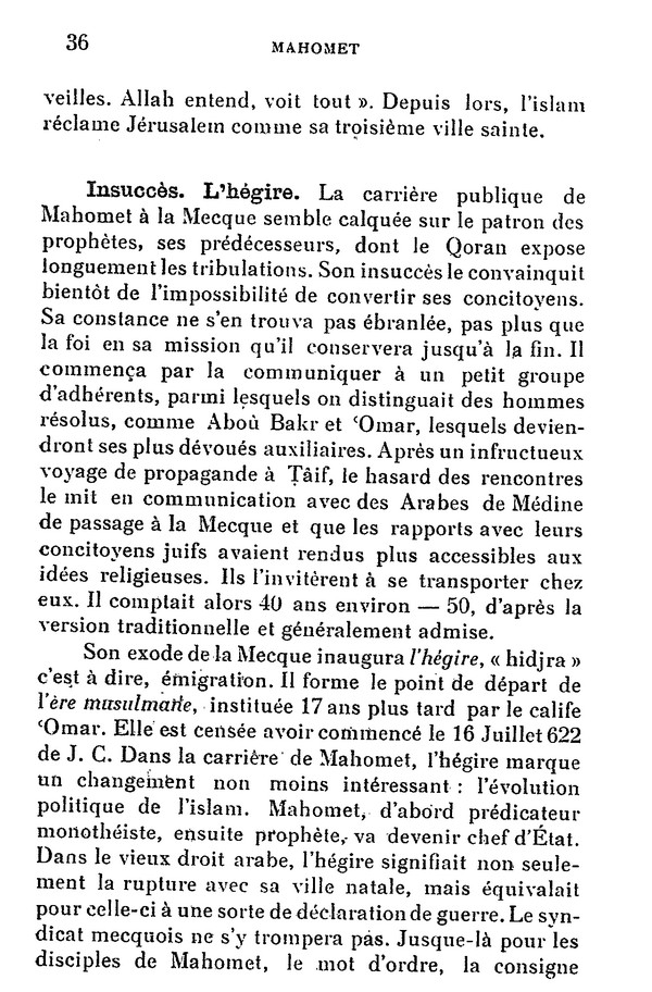 L'Islam par H. LAMMENS (extraits) 510
