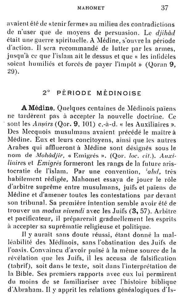 L'Islam par H. LAMMENS (extraits) 610