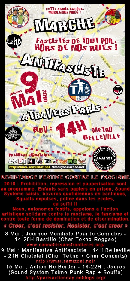 Resistance festive contre le fascisme - 9 mai - Paris Manifs13