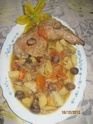 cuisse de dinde aux légumes et chataignes.photos. Confit12