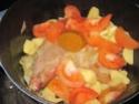 cuisse de dinde aux légumes et chataignes.photos. Confit15