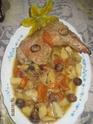cuisse de dinde aux légumes et chataignes.photos. Confit16