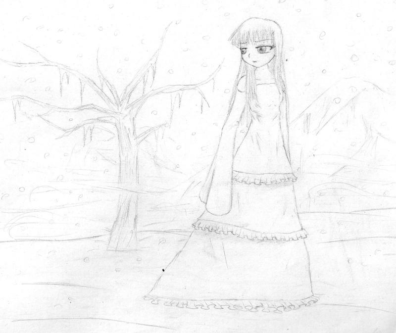Fille dans la neige Img03510