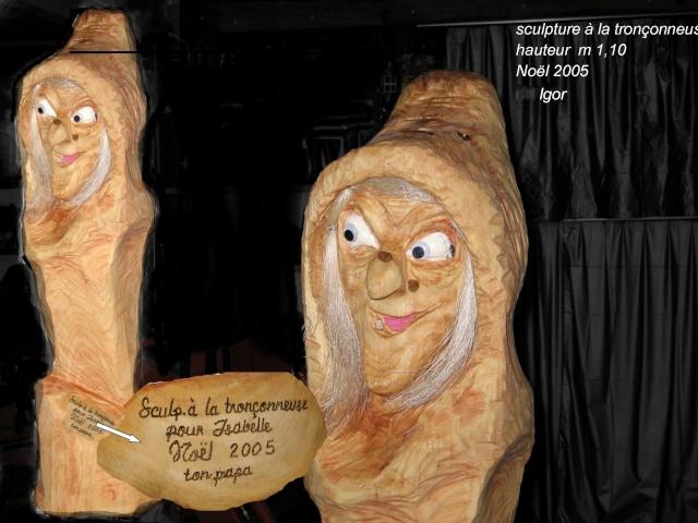 Une des mes sculptures à la tronçonneuse Sculpt27