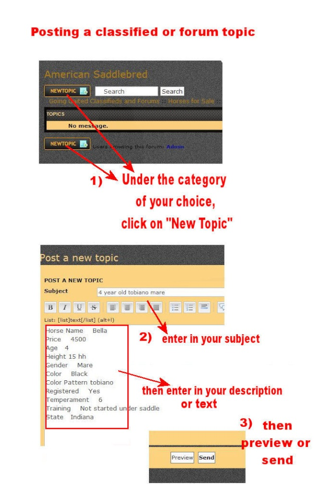 How to post to a forum or upload a photo Postin11