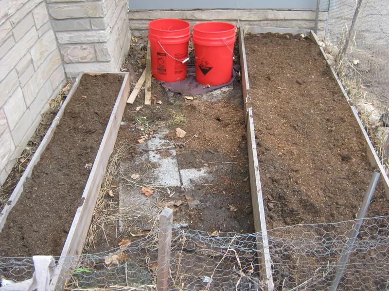 Garden Snow Free and thawed Garden10