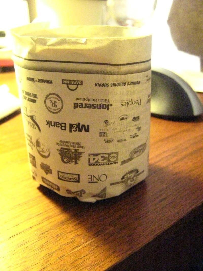 Recycling newspaper => starter pots Img_3114