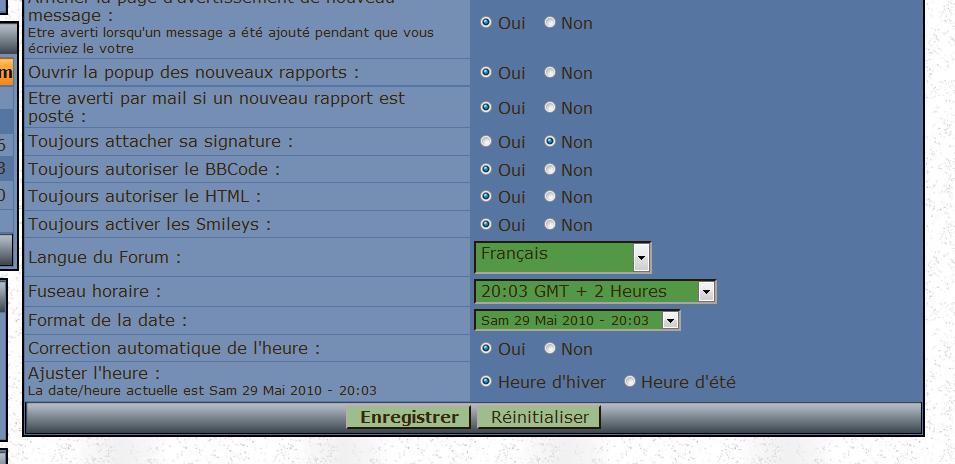 ACTIVEZ LE HTML dans votre profil Pref-h10