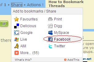 How To Share On Facebook and other sites Share210