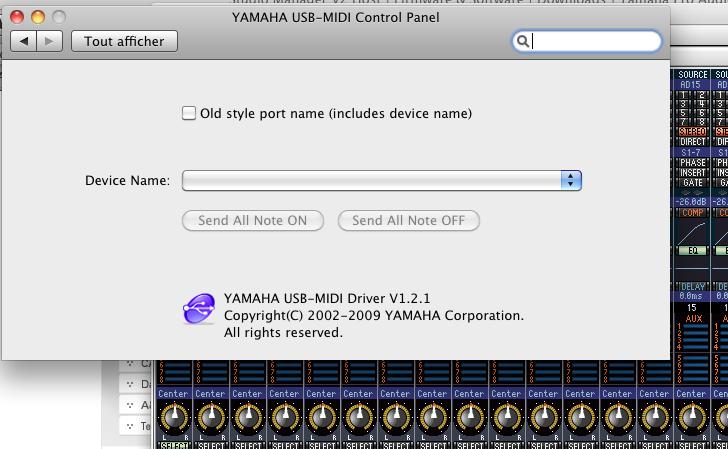 pb config 01v96 vcm avec Studio manager Osx ? Midi110