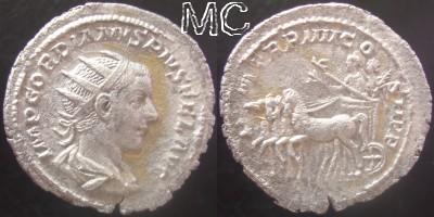 2 quadriges de GORDIEN III réunis Rom_1910