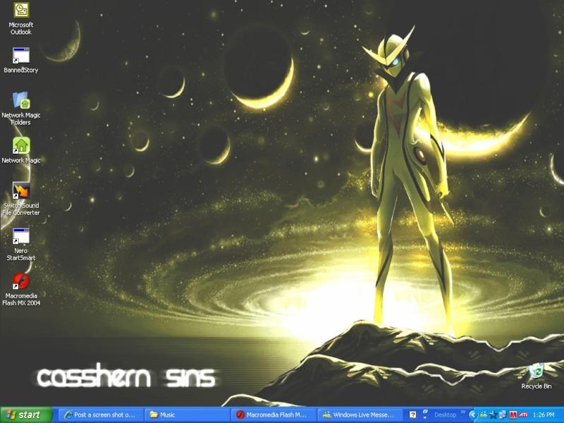 Post a screen shot of your desktop Deskto10