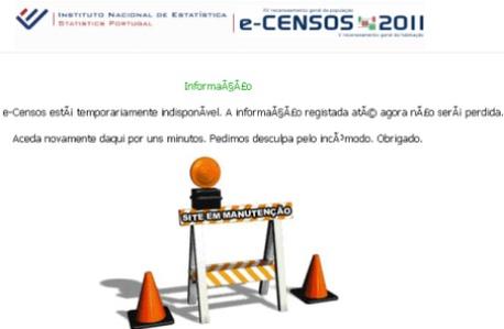 Censos 2011 na Net já estão com problemas Censos10