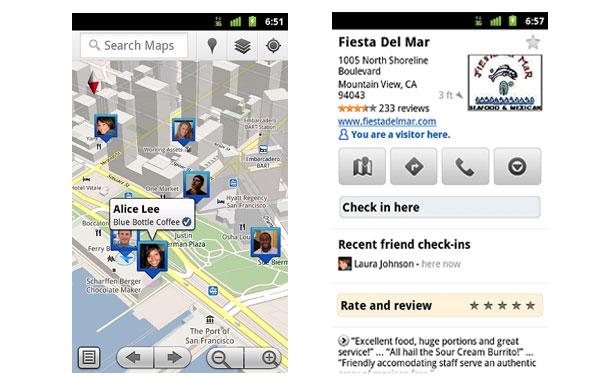 Google Latitude no Maps 5.1 Google11