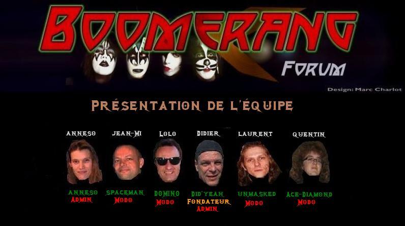 Présentation de l'équipe de Boomerang forum. Equipe11