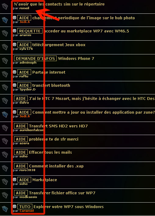 [QUESTION] N'avoir que les contacts sim sur le répertoire Balise10