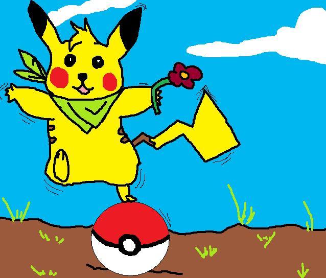 des vieille créations sur paint ^^ Pikach10