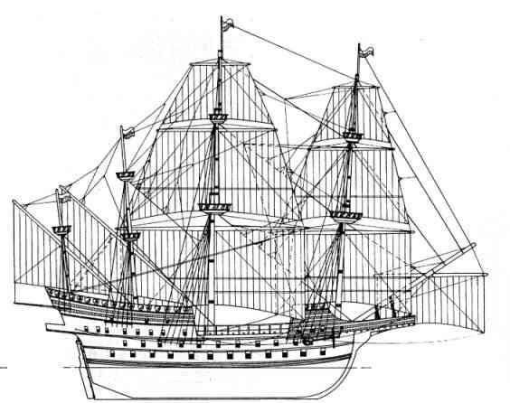 sabordi e mantelletti (a losanga)...tipologie e alberatura dei vascelli dei primi del XVII sec...e molto altro Adler310