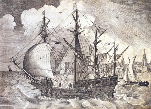 sabordi e mantelletti (a losanga)...tipologie e alberatura dei vascelli dei primi del XVII sec...e molto altro Galeon11